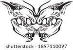 tribal butterfly wings with... | Shutterstock .eps vector #1897110097