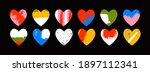 hand drawn various colorful... | Shutterstock .eps vector #1897112341