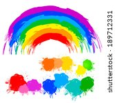 color splash abstract rainbow.... | Shutterstock .eps vector #189712331
