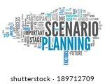 word cloud with scenario... | Shutterstock . vector #189712709