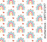 colorful rainbow pattern with...   Shutterstock .eps vector #1897147297