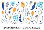 vector set of hand drawn... | Shutterstock .eps vector #1897153621