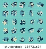 geometry shapes in space.... | Shutterstock .eps vector #189721634