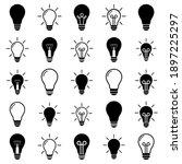 light bulb set icon  logo...   Shutterstock .eps vector #1897225297