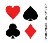 play card symbol suit vector... | Shutterstock .eps vector #1897243114
