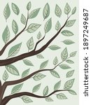 vector illustration of green... | Shutterstock .eps vector #1897249687