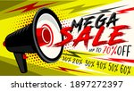 mega sale web banner or poster. ... | Shutterstock .eps vector #1897272397