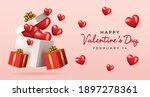 valentine's day sale background....   Shutterstock .eps vector #1897278361