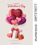 valentine's day sale background....   Shutterstock .eps vector #1897278577