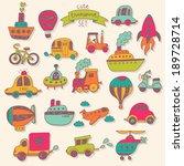 big transportation icons... | Shutterstock .eps vector #189728714