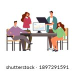 business people colleagues... | Shutterstock .eps vector #1897291591