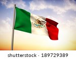 mexico national flag against... | Shutterstock . vector #189729389