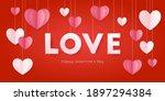 happy st. valentine s day card... | Shutterstock .eps vector #1897294384
