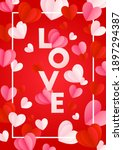 happy st. valentine s day card... | Shutterstock .eps vector #1897294387
