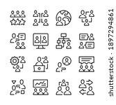 teamwork line icons set. modern ... | Shutterstock .eps vector #1897294861