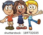 cute cartoon kids. vector clip... | Shutterstock .eps vector #189732035
