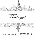 Thank You Card Template With...
