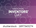 national inventors day.... | Shutterstock .eps vector #1897365274