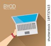 vector flat design concept of... | Shutterstock .eps vector #189737615