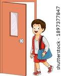 illustration of a kid boy... | Shutterstock .eps vector #1897377847