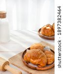 French Buttered Croissants On...