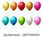 birthday balloons set vector... | Shutterstock .eps vector #1897396924