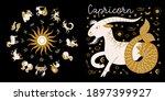 zodiac sign capricorn.... | Shutterstock .eps vector #1897399927