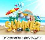 summer vector concept design.... | Shutterstock .eps vector #1897401244