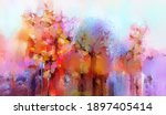 illustration colorful autumn... | Shutterstock . vector #1897405414