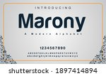 marony font. elegant alphabet... | Shutterstock .eps vector #1897414894