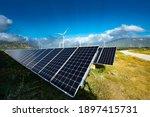 Solar Panels Farm Under The Sky....