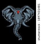 Illustration Vector Elephant...