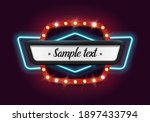 shining retro neon billboard.... | Shutterstock .eps vector #1897433794