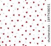 Trendy Hearts Dots Pattern ...