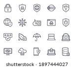 safe internet line icon set.... | Shutterstock .eps vector #1897444027