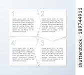 paper progress banners. design... | Shutterstock .eps vector #189744911