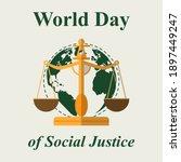 world social justice day vector ...   Shutterstock .eps vector #1897449247