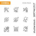 9 line set of corona virus...   Shutterstock .eps vector #1897461517