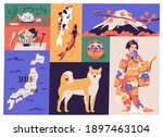 Collage Of Japanese National...