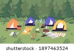 touristic summer campground... | Shutterstock .eps vector #1897463524