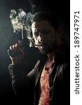 Smoking Gangster With Gun