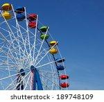 ferris wheel over blue sky | Shutterstock . vector #189748109