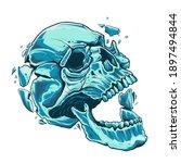 the skull with open moth... | Shutterstock .eps vector #1897494844