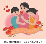 mother's day card  mother and...   Shutterstock .eps vector #1897514527