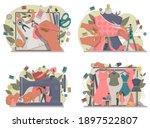 fashion or clothes designer... | Shutterstock .eps vector #1897522807