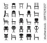 chair and sofa icons vector set | Shutterstock .eps vector #1897529257