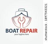 boat repair  maintenance ...   Shutterstock .eps vector #1897543321