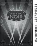 Art Deco Frame  Noir Style...