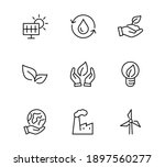 ecology icons set vector icons... | Shutterstock .eps vector #1897560277