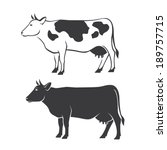 agricultural,animal,beef,black,breed,cattle,cow,dairy,domestic,farm,graphic,horned,icon,illustration,isolated